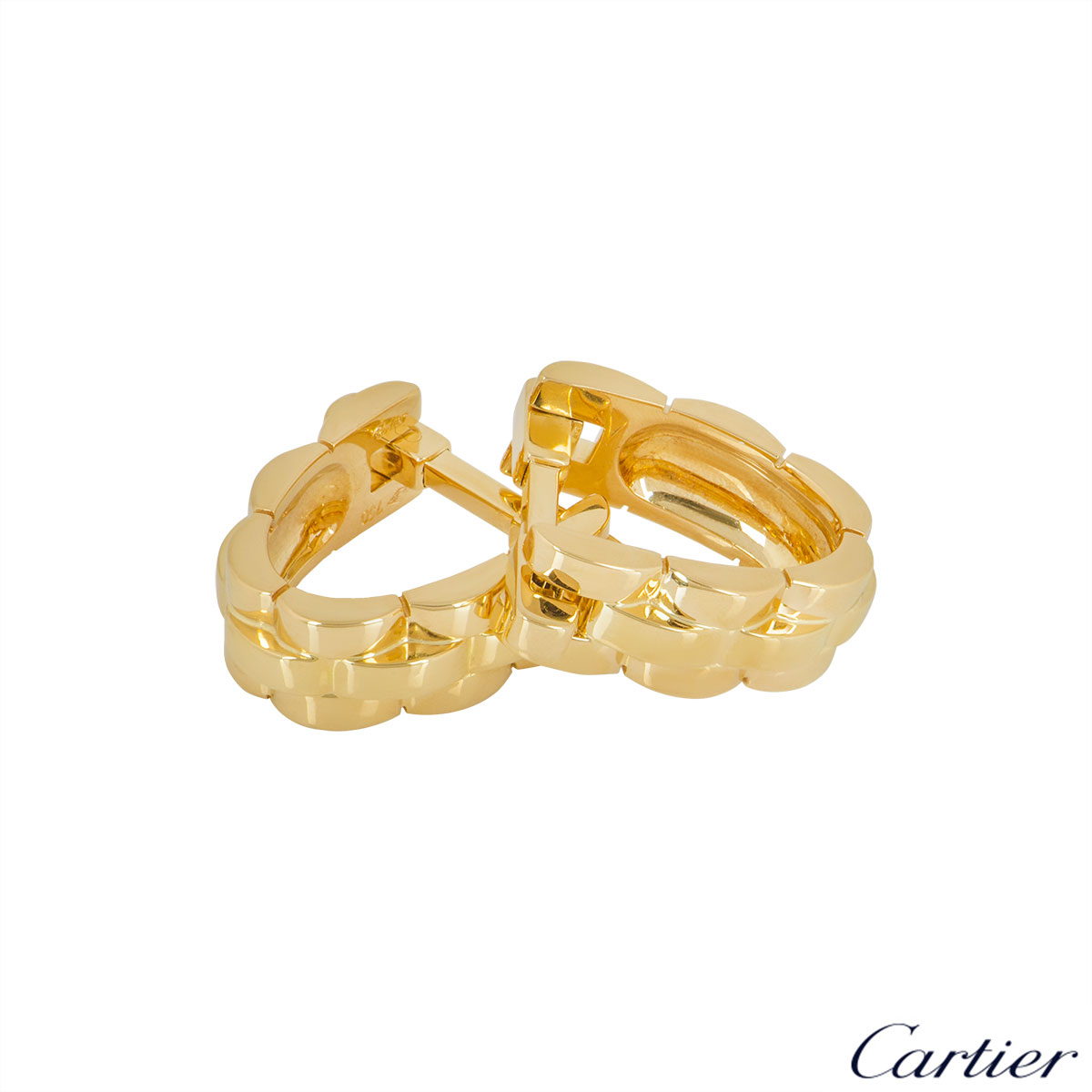 Cartier Yellow Gold Maillon Panthere Cufflinks